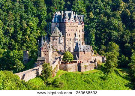 Eltz Castle Or Burg Eltz Is A Medieval Castle In The Hills Above The Moselle River Near Koblenz In G