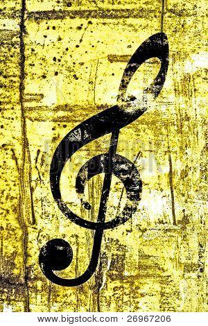 Golden music illustration