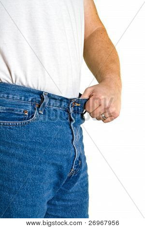 Man Holds Out Waistline With Pride