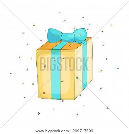 Fun Cartoon Gift Box Vector Photo Free Trial Bigstock