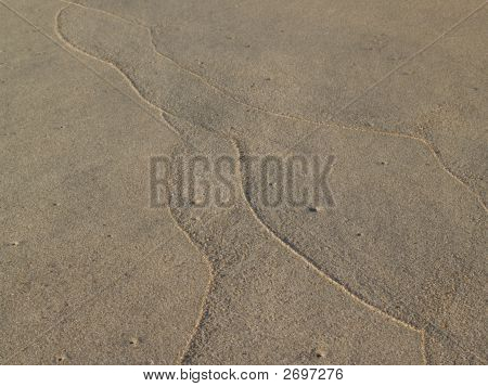 Beach: Sand Tracings On Shore