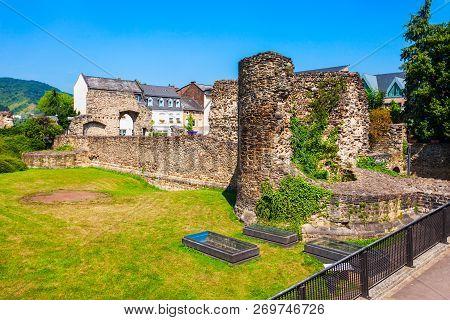 Roman Castrum Or Romerkastell In Boppard. Boppard Is A Town Lying In The Rhine Gorge, Germany.