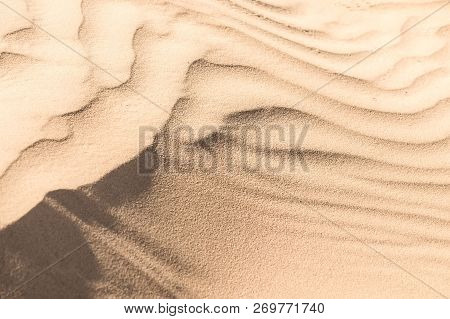 Texture Of Sand Dune In Desert Close Up