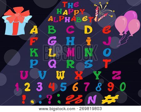 Stock Vector Halloween Font Alphabet Vector Set Images