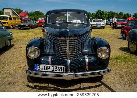 Paaren Im Glien, Germany - May 19, 2018: Executive Car Opel Kapitan, 1939. Die Oldtimer Show 2018.