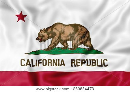California, United States - November 17, 2018: Illustrative Editorial California Republic Flag, An A
