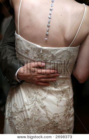 Groom'S Arm Around Bride