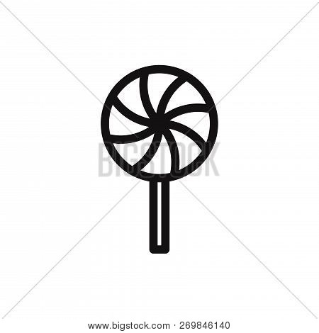 Lollipop Icon Isolated On White Background. Lollipop Icon In Trendy Design Style. Lollipop Vector Ic