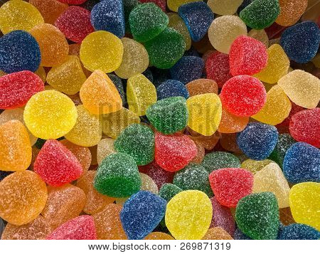 Colorful Candy Gums - Multi-colored Sugar Jelly