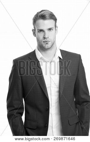 Business Man. Professional Business Man In Formal Jacket. Professional Look Of Business Man. Busines