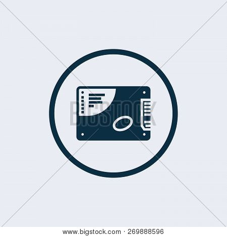 SSD Card Flat Icon On White Background. SSD hard drive icon. Element of computer parts with name icon poster