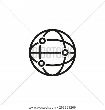 Network Line Icon. Internet, World Web, Digital. Internet Concept. Vector Illustration Can Be Used F