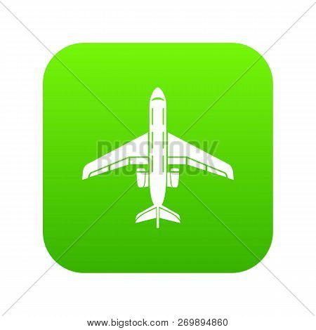 Passenger Plane Icon. Simple Illustration Of Passenger Plane Icon For Web