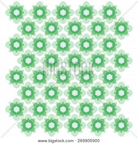 Green Geometric Ornament. Seamless Vector Pattern. Eps 10