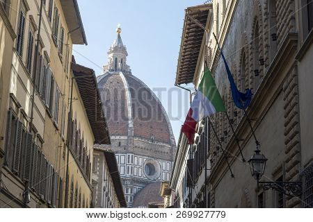 Cathedral of St. Mary flower cattedrale di Santa Maria del Fiore Duomo di Firenze Florence, Italy. City attraction. poster