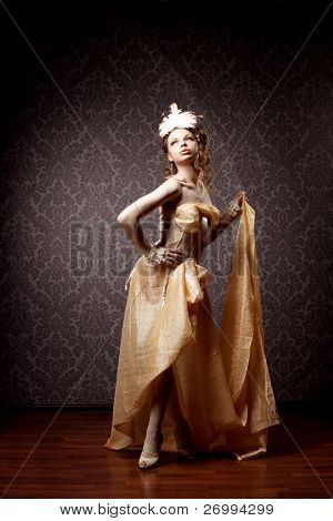 The image of a woman in a luxurious vintage style