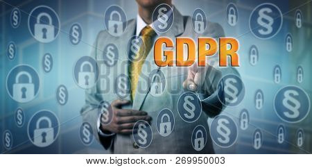 Data Protection Officer Activating Gdpr Measures For Compliance With The Eu General Data Protection