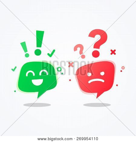 Vector Illustration User Experience Feedback Concept Different Mood Speech Bubble Emoticons Emoji Ic