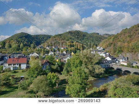 Village Of Ahrbrueck In Ahrtal Near Altenahr,rhineland-palatinate,germany
