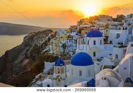 Beautiful Town Of Santorini Island, Greece