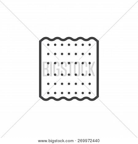 Jewish Matzah Outline Icon. Linear Style Sign For Mobile Concept And Web Design. Passover Bread Simp
