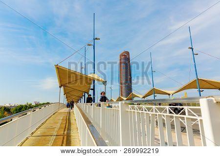 Bridge Puente Del Cristo De La Expiracion In Seville, Spain