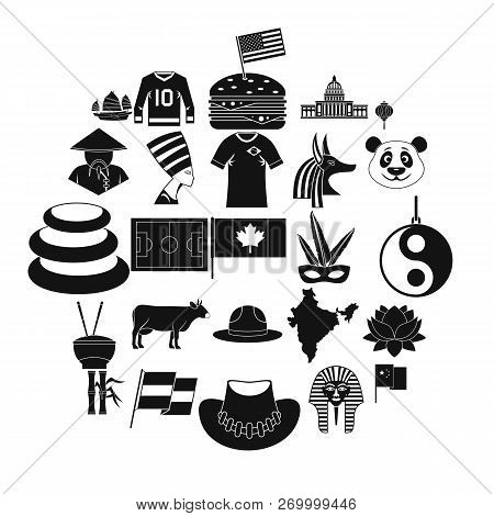 Monument Icons Set. Simple Set Of 25 Monument Icons For Web Isolated On White Background