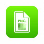 File PNG icon digital green for any design isolated on white illustration poster