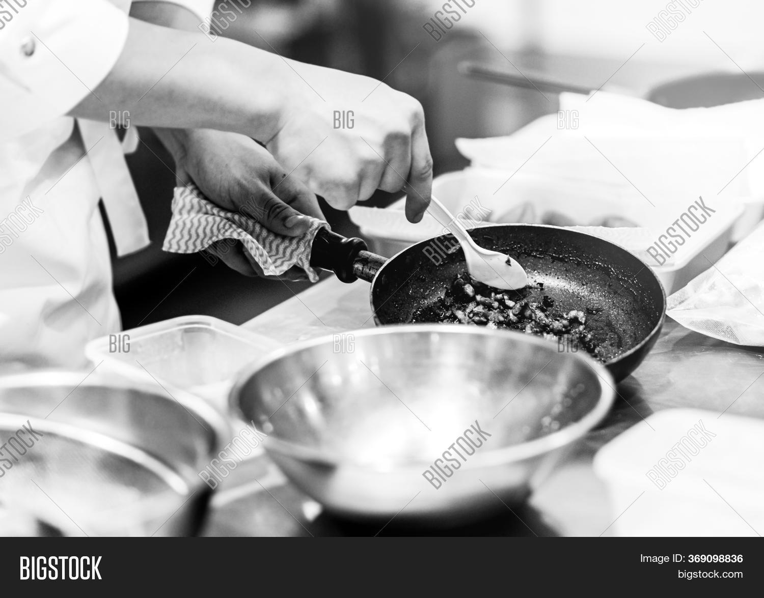 Chef Cooking Kitchen Image Photo Free Trial Bigstock