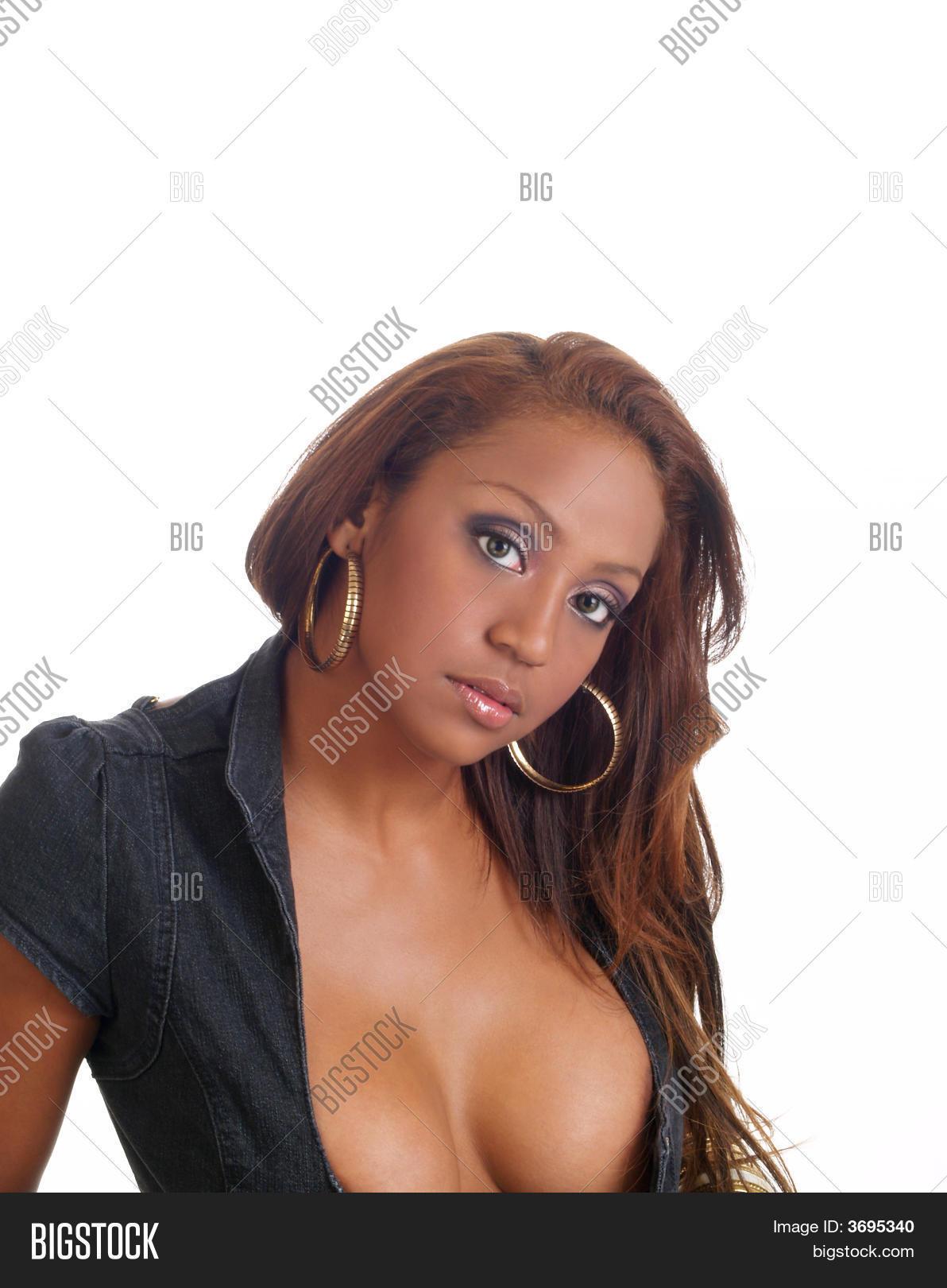 Big black cleavage