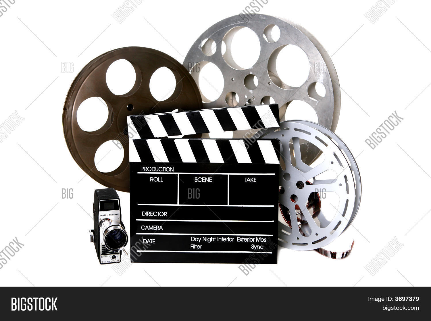 Film reels directors image photo free trial bigstock film reels and directors clapper with vintage camera thecheapjerseys Choice Image