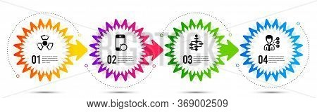 Third Party, Chemical Hazard And Block Diagram Icons Simple Set. Timeline Steps Infographic. Recover