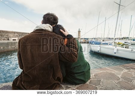 Two Lovers In A Harbor On The Lake
