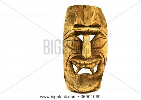 Tropical Island Wooden Face