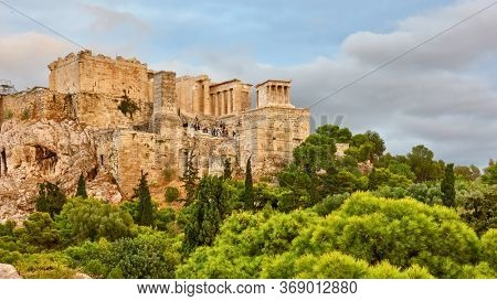 View of the Acropolis in Athens, Greece - Greek landscape