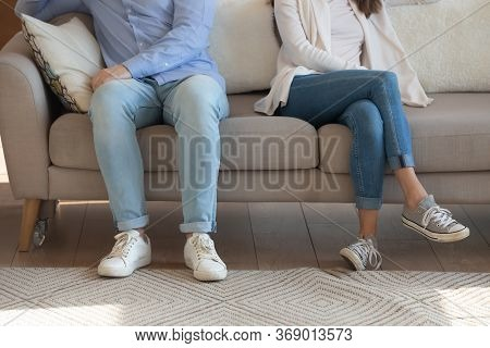Close Up Of Couple Avoid Talking After Fight