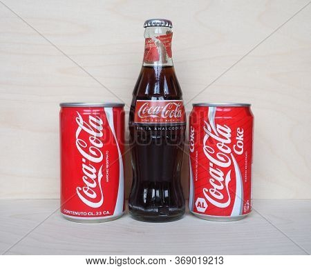 Coca Cola - May 2020: Coca Cola Can And Bottle