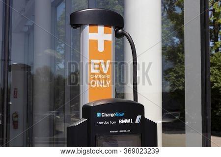 Indianapolis - Circa May 2020: Chargenow Ev Charging Station. The Chargenow Charging Station Offers