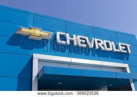 Indianapolis - Circa May 2020: Chevrolet Automobile Dealership. Chevy Is A Division Of General Motor