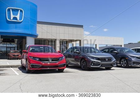 Indianapolis - Circa May 2020: Honda Motor Co. Automobile And Suv Dealership. Honda Manufactures Amo