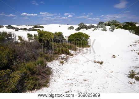 An image of white dune sand scenery western Australia