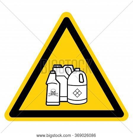 Warning Hazardous Pool Chemicals Keep Out Symbol Sign, Vector Illustration, Isolate On White Backgro