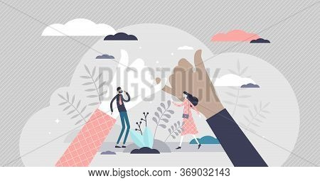 Pinky Swear Promise Vector Illustration. Little Finger Deal Symbol Flat Tiny Persons Concept. Hand G