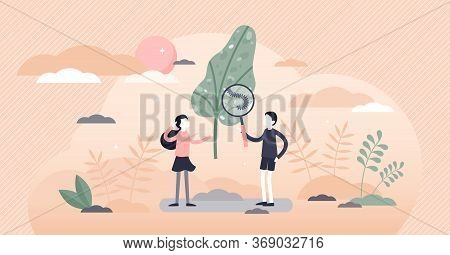 Kids Exploring Vector Illustration. Child Cognitive Process Flat Tiny Persons Concept. Discovery Lea