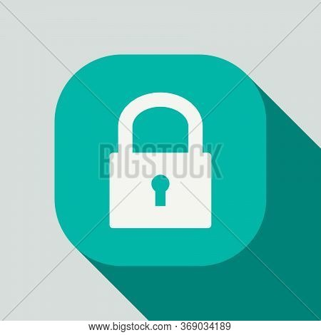 Padlock Icon, Website Padlock Button Vector Design Isolated On White Background. Websites  Essential