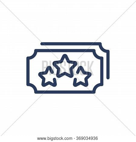 Loyalty Star Coupon Thin Line Icon. Bonus Point, Badge, Voucher Isolated Outline Sign. Loyalty Progr