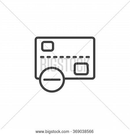 Declined Transaction Line Icon. Linear Style Sign For Mobile Concept And Web Design. Cancel Credit C