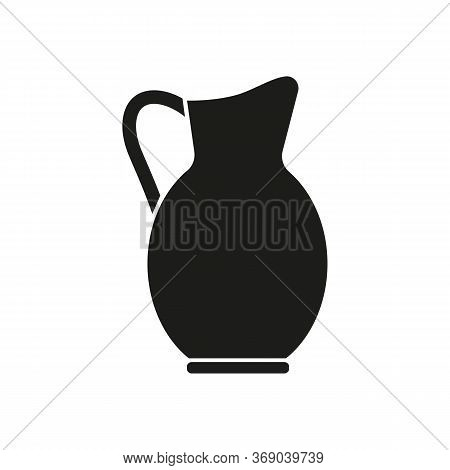 Icon Of Jug For Beverages. Pitcher, Container, Antique. Beverages Concept. Can Be Used For Topics Li