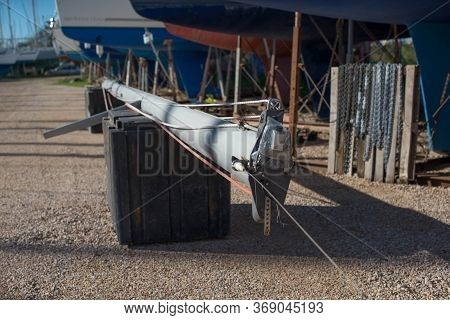 Removed From The Yacht Aluminum Mast At The Shipyard