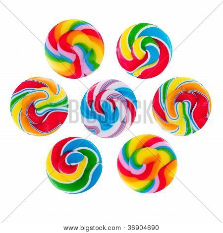 Some Colorful Lollipops, Isolated